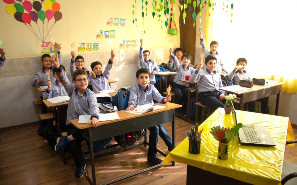 بخشهای دبستان مدارس سلام