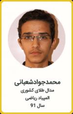 محمدجواد شعبانی | مدال طلا کشوری | المپیاد ریاضی | سال 91