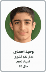وحید احمدی | مدال نقره کشوری | المپیاد نجوم | سال 93