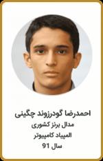 احمدرضا گودرزوند چگینی | مدال برنز کشوری | المپیاد کامپیوتر | سال 91